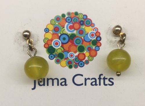 Lemon Jade Ear Stud Earrings